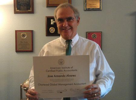 Jose Alvarez CGMA Release1 Tampa Bay Area CPA José A. Alvarez Awarded CGMA Designation